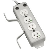 Tripp Lite 4-Outlet Medical-Grade Power Strip with Cord Wrap and Drip Shield