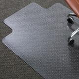 "ES Robbins AnchorBar Lipped Chairmat - Carpeted Floor - 48"" Length x 36"" Width - Clear ESR122083"