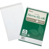 "SKILCRAFT Gregg Ruled Steno Book - 60 Sheets - Printed - Wire Bound - 17 lb Basis Weight - 6"" x 9"" - NSN6002029"