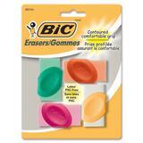 BIC Contoured Comfortable Grip Erasers