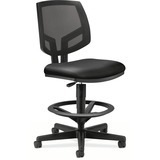 HON® Volt Series Mesh Back Adjustable Leather Task Stool, Black HON5715SB11T