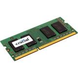 Crucial 4GB, 204-pin SODIMM, DDR3 PC3-12800 Memory Module