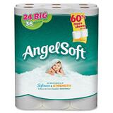 "Angel Soft PS 24 Roll Bathroom Tissue - 2 Ply - 4"" x 4"" - 195 Sheets/Roll - White - Soft, Strong - 2 GPC77239PK"