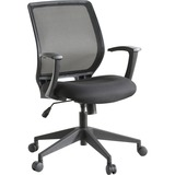 "Lorell Executive Mid-back Work Chair - Black Seat - 5-star Base - Black - 26"" Width x 27"" Depth x 40 LLR84868"