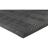 "Genuine Joe Free Flow Comfort Anti-fatigue Mat - 48"" Length x 36"" Width x 0.50"" Thickness - Rubber - GJO32590"
