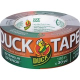 "Duck Outdoor/Exterior Duct Tape - 1.88"" Width x 90 ft Length - 1 / Roll - Gray DUC240183"
