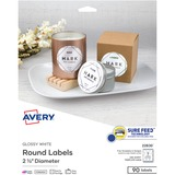 AVE22830 - Avery® Circle Labels - Sure Feed Tech...