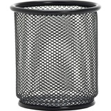 "Lorell Black Mesh/Wire Pencil Cup Holder - 3.5"" x 3.9"" - Steel - 1 Each - Black LLR84149"