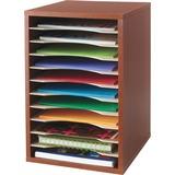 SAF9419CY - Safco Adjustable Vertical Wood Shelf Org...