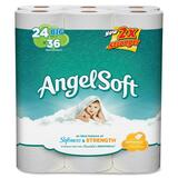 """Angel Soft PS 24 Roll Bathroom Tissue - 2 Ply - 4"""" x 4"""" - 240 Sheets/Roll - White - Soft, Strong - 9 GPC77239CT"""