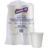 Genuine Joe Polyurethane-lined Disposable Hot Cups - 12 oz - 50 / Pack - White - Polyurethane - Hot  GJO19047PK
