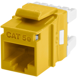 Wirewerks Cat5e RJ45 KeyWerks Module, Back Termination, Yellow
