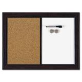 Quartet Espresso Combination Dry Erase/Cork Board