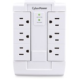 CyberPower CSB600WS Essential 6-Outlets Surge Suppressor Wall Tap and Swivel Outputs - Plain Brown Boxes