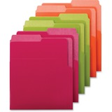 Smead® Organized Up Heavyweight Vertical File Folders, Assorted Bright Tones, 6/Pack SMD75406
