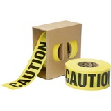 SKILCRAFT CAUTION Barricade Tape - 1000 ft Long Yellow Polypropylene Tape NSN6134243