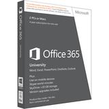 Microsoft Office 365 University 32/64-bit - Subscription License - 2 PC/Mac, 1 Mobile Device, 20 GB Online Capacity