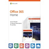 Microsoft Office 365 Home 32/64-bit - Subscription License - 5 PC and Mac in One Household - 1 Year