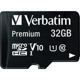Verbatim 32GB Premium microSDHC Memory Card with Adapter, UHS-I V10 U1 Class 10