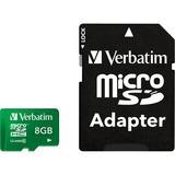 Verbatim 8GB Tablet microSDHC Memory Card, UHS-1 Class 10 Green
