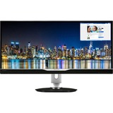 "Philips Brilliance 298P4QJEB 29"" LED LCD Monitor - 21:9 - 5 ms - Adjustable Display Angle - 2560 x 1080 - 16.7 Million Colors - 300 Nit - 20,000,000:1 - UW-UXGA - Speakers - DVI - HDMI - DisplayPort - USB - 38.50 W - Textured Black - EPEAT Gold, TCO Certified Edge, RoHS, WEEE, ENERGY STAR 6.0"