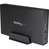 StarTech.com 3.5in Black USB 3.0 External SATA III Hard Drive Enclosure with UASP - Portable External HDD