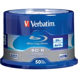 Verbatim BD-R LTH Type 25GB 6X with Branded Surface - 50pk Spindle