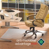 Cleartex Advantagemat Antimicrobial Chair Mat for Hard Floors - Hardwood Floor, Tile Floor, Linoleum FLRAB1213420EV