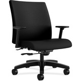 HON® Ignition Series Big & Tall Mid-Back Work Chair, Black Fabric Upholstery HONIW801NT10