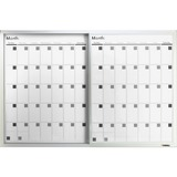 """Lorell Magnetic Dry-Erase Calendar Board - 36"""" (3 ft) Width x 24"""" (2 ft) Height - Frost Surface - Re LLR52503"""