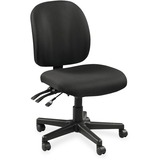 Lorell Mid-Back Task Chair w/o Arms - Fabric Black Seat - Fabric Black Back - 5-star Base - Black -  LLR53100