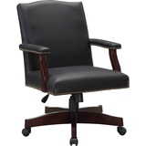 Lorell Traditional Executive Bonded Leather Chair - Bonded Leather Black Seat - Bonded Leather Black LLR68250