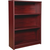 "Lorell Prominence 79000 Series Mahogany Bookcase - 34"" x 12"" x 48"" - 3 Shelve(s) - Material: Particl LLR79049"