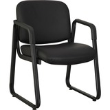 LLR84577 - Lorell Black Leather Guest Chair