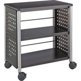 "Safco Scoot Personal Contemporary Design Bookcase - 25"" x 15.5"" x 27"" - 2 Shelve(s) - Material: Stee SAF1604BL"
