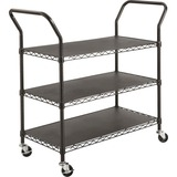 SAF5338BL - Safco 3-shelf Wire Utility Cart