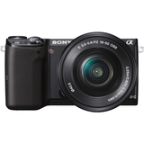 Sony α NEX NEX-5T 16.1 Megapixel Mirrorless Camera with Lens (Body with Lens Kit) - 16 mm - 50 mm - Black