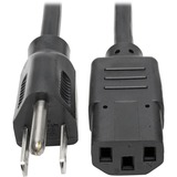Tripp Lite 1ft Computer Power Cord Cable 5-15P to C13 10A 18AWG 1