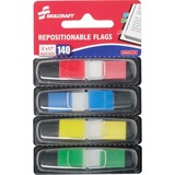 "SKILCRAFT Self-stick Repositionable Color Flags - 140 x Assorted - 0.50"" x 1.70"" - Rectangle - Assor NSN6200283"