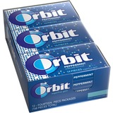 Orbit Flavored Sugar-free Gum - Peppermint - Sugar-free, Individually Wrapped - 12 / Box MRS21486