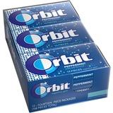 Orbit Flavored Sugar-free Gum - Peppermint - Sugar-free, Individually Wrapped - 12 / Box MRS21486