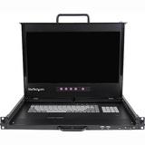 "StarTech.com 1U 17"" HD 1080p Dual Rail Rackmount LCD Console w/ Fingerprint Reader and Front USB Hub"
