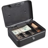 """FireKing 6 Compartment Locking Cash Box - Key Lock - for Money, Coin - Overall Size 4"""" x 10"""" x 7.5""""  FIRCB1007"""