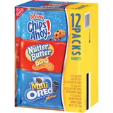 Nabisco Bite-size Cookie Variety Pack - Chocolate Chip, Peanut Butter - 1 Serving Bag - 1 oz - 48 /  NFG02024