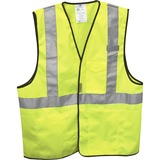 3M Adjustable Reflective Surveyor's Safety Vest - Visibility Protection - Yellow, Silver - 1 Each MMM9461880030T