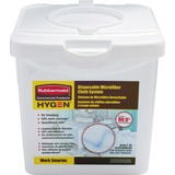 Rubbermaid® Commercial HYGEN™ Disposable Microfiber Cloth Starter Kit, White/Blue, 240 Cloths w/Char RCP1822350