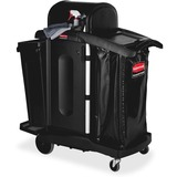 Rubbermaid® Commercial Executive High Security Janitorial Cleaning Cart, 23-1/10 x 39-3/5 x 27-1/2,  RCP1861427