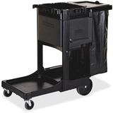 "Rubbermaid Executive Janitor Cleaning Cart - 3 Shelf - 8"", 4"" Caster Size - 21.8"" Width x 46"" Depth  RCP1861430"