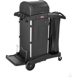 "Rubbermaid High Security Cleaning Cart - Aluminum, Plastic - 22"" Width x 48.3"" Depth x 53.5"" Height  RCP9T7500"