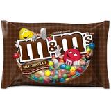 M&M's Plain Milk Chocolate Candies Zipper Bag - Milk Chocolate - Resealable Zipper - 1.20 lb - 1 / B MRS24908